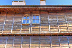 Stylish wooden house exterior Stock Images