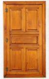 Stylish wooden window on stone wall Stock Images