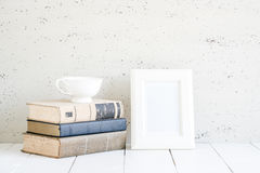 Stylish workplace interior at home. Royalty Free Stock Photography