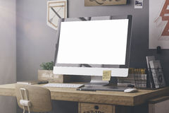 Stylish workplace mockup Stock Image