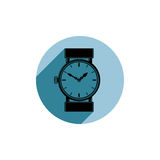 Stylish wristwatch illustration, elegant timepiece with dial and Stock Image