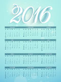 Stylish Yearly 2016 Calendar design. Shiny Yearly Calendar design of 2016 for Happy New Year celebration Stock Photos