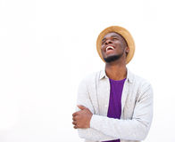 Stylish young african man laughing Royalty Free Stock Photos