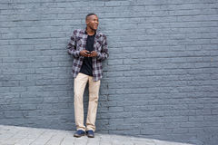 Stylish young african man looking at copy space Royalty Free Stock Photos