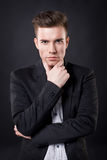 Stylish young attractive man Stock Images