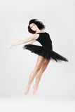 Stylish and young ballet style dancer is jumping royalty free stock photo