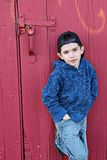 Stylish young boy stock photography