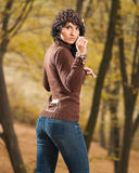 Stylish young brunet stock images