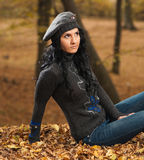 Stylish young brunet Royalty Free Stock Photography