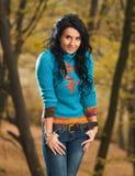 Stylish young brunet royalty free stock photo