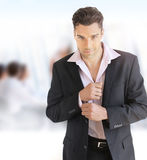 Stylish young business man Royalty Free Stock Image