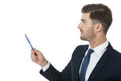 Stylish young businessman doing a presentation Royalty Free Stock Photos