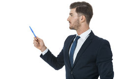Stylish young businessman doing a presentation Stock Photo