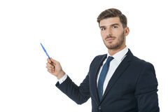 Stylish young businessman doing a presentation Stock Images