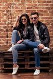 Stylish young couple Stock Photo