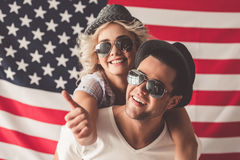 Stylish young couple royalty free stock images