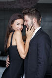 Stylish young couple indoor Stock Photo