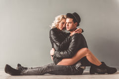 Stylish young couple stock images