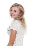 Stylish Young European Woman or Student- Stock Image Royalty Free Stock Photos