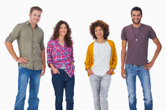 Stylish young friends smiling Stock Photography