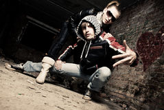 Stylish young gangs stock images
