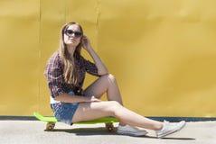 Stylish young girl Stock Photos