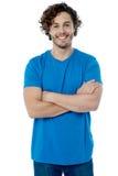 Stylish young  guy posing confidently Royalty Free Stock Photo
