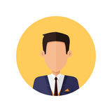 Stylish Young Man Avatar or Userpic in Flat Design Royalty Free Stock Photos
