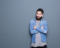 Stylish young man with beard Royalty Free Stock Photos