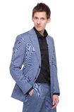 Stylish young man in business suit Stock Photos