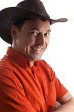 Stylish young man in a cowboy hat Stock Photography