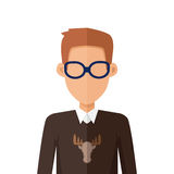 Stylish Young Man in Glasses Avatar or Userpic Stock Photography