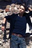 Stylish young man Stock Photos