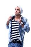 Stylish young man posing and looking at camera Stock Photos