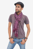 Stylish young man wearing accessories Royalty Free Stock Photography