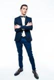 Stylish young man wearing elegant suit. Royalty Free Stock Image