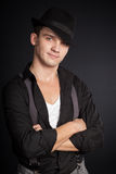 Stylish young man wearing a hat Royalty Free Stock Photo