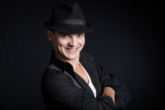 Stylish young man wearing a hat Stock Photography