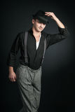 Stylish young man wearing a hat Stock Photos