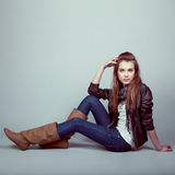 Stylish young model Royalty Free Stock Photography