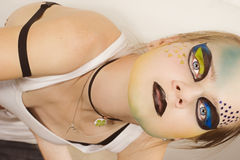 Stylish young model with make-up Stock Images