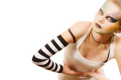 Stylish young model with make-up Royalty Free Stock Photography