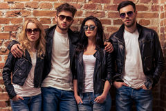 Stylish young people Stock Images