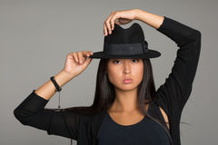 Stylish young woman of Asian Royalty Free Stock Photo