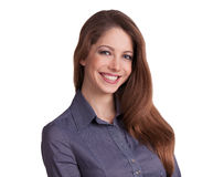 Stylish young woman in a blouse Royalty Free Stock Photography