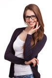 Stylish young woman in glasses Stock Image