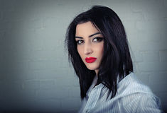 Stylish young woman portrait Royalty Free Stock Photography