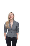 Stylish young woman standing thinking Stock Photography
