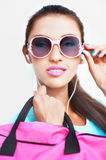 Stylish young woman in sunglasses Royalty Free Stock Images