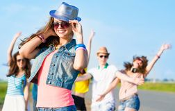 Stylish young woman in sunglasses Royalty Free Stock Photography